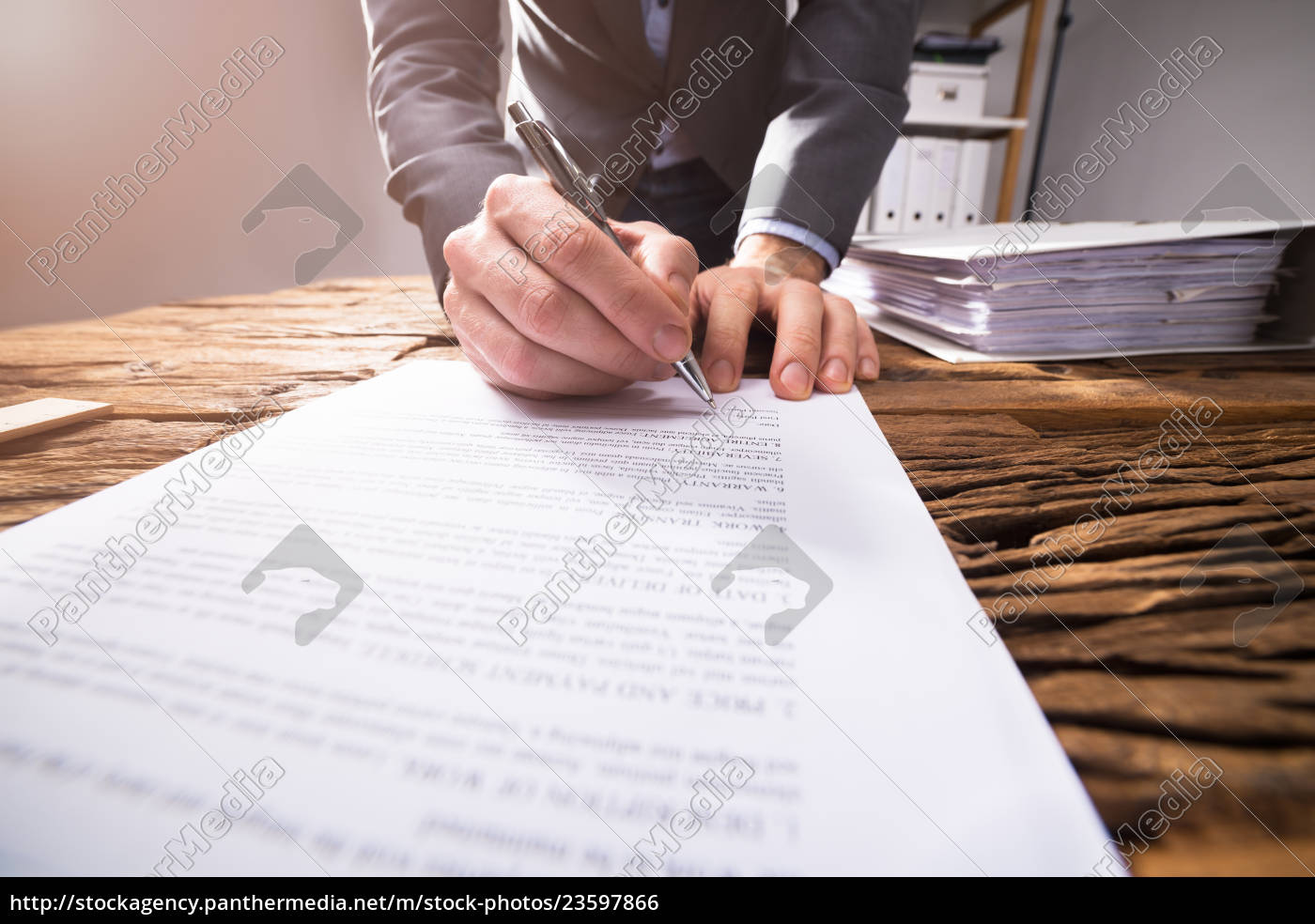 businessperson, signing, document - 23597866