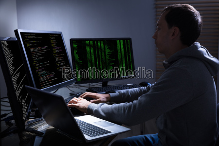 hacker, stealing, information, from, multiple, computers - 23597802