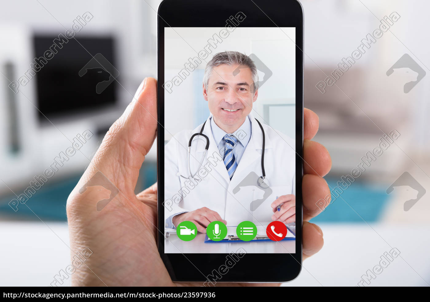 person, video, conferencing, with, doctor, on - 23597936