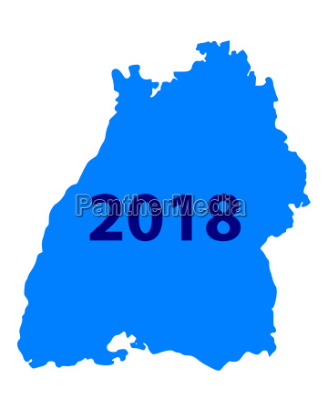 map of baden wuerttemberg 2018