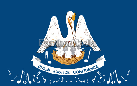 musical louisiana state flag