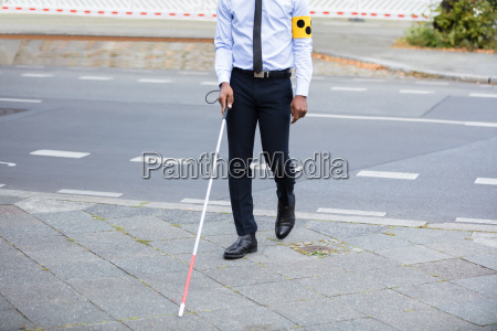 blind, person, walking, on, street - 23600758