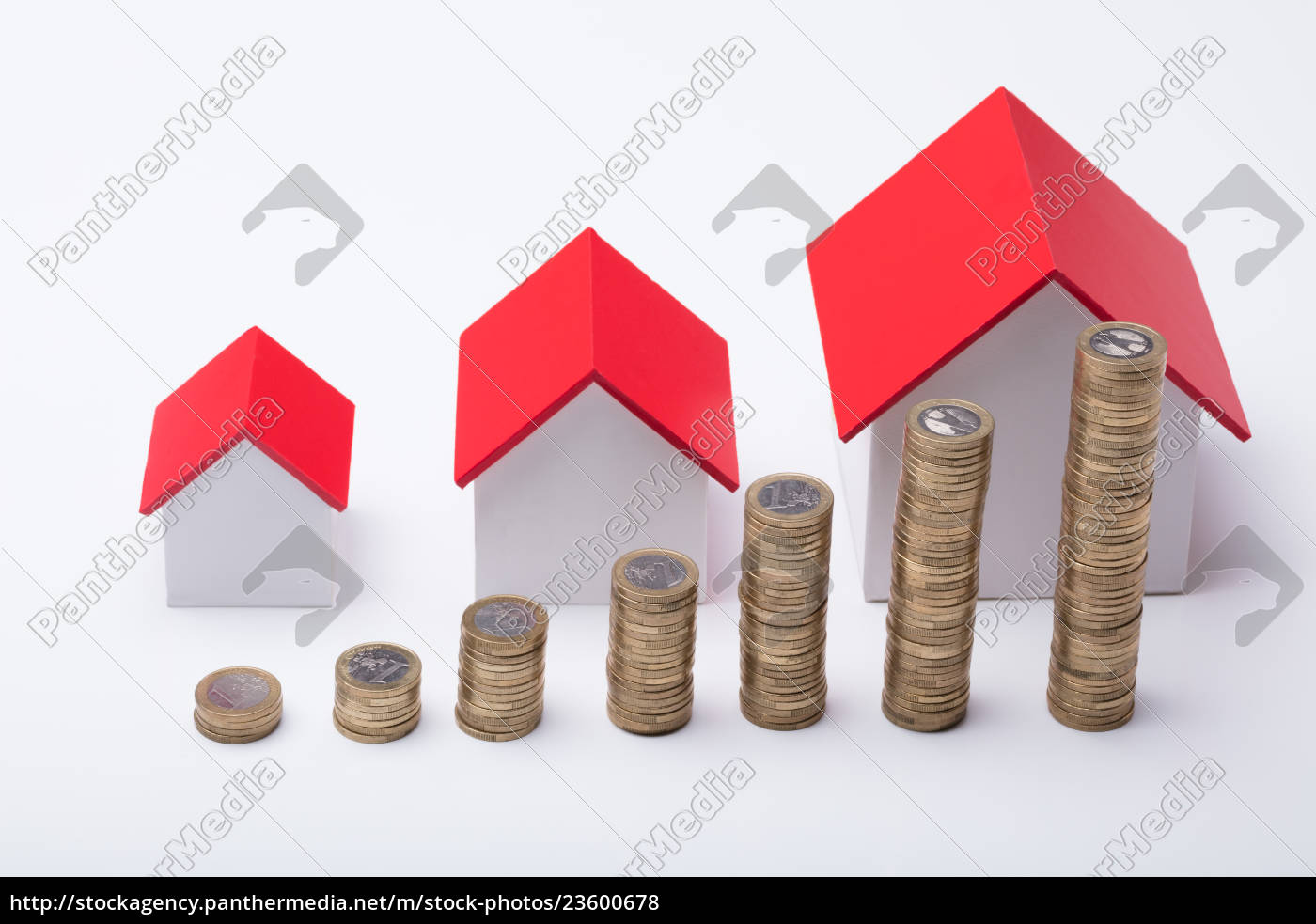 different, size, houses, with, stack, of - 23600678