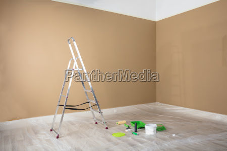painted, room, with, ladder, and, painting - 23600580