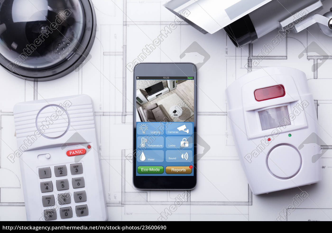 smart, home, system, on, mobilephone, with - 23600690