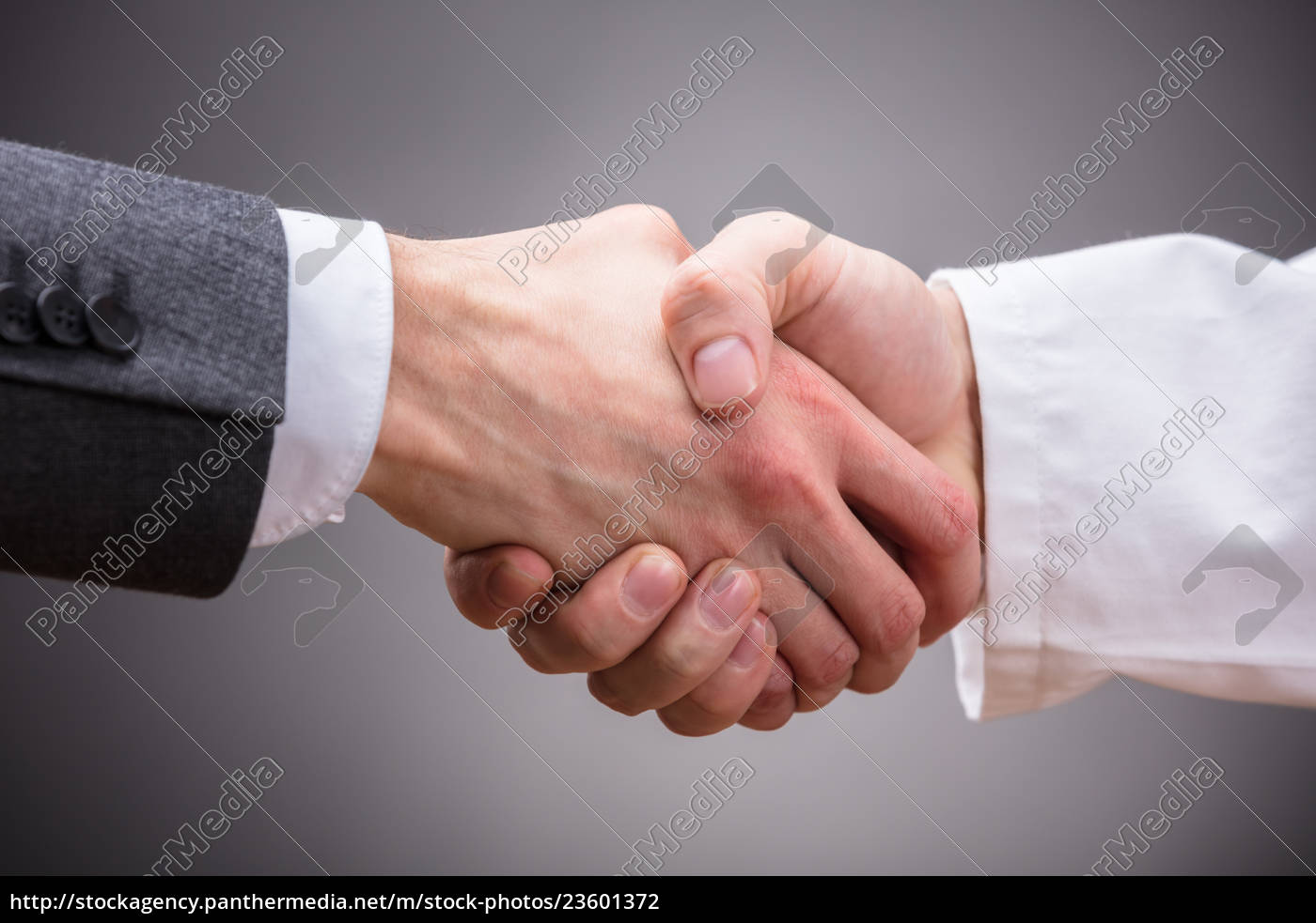 doctor, and, businessman, shaking, hands - 23601372