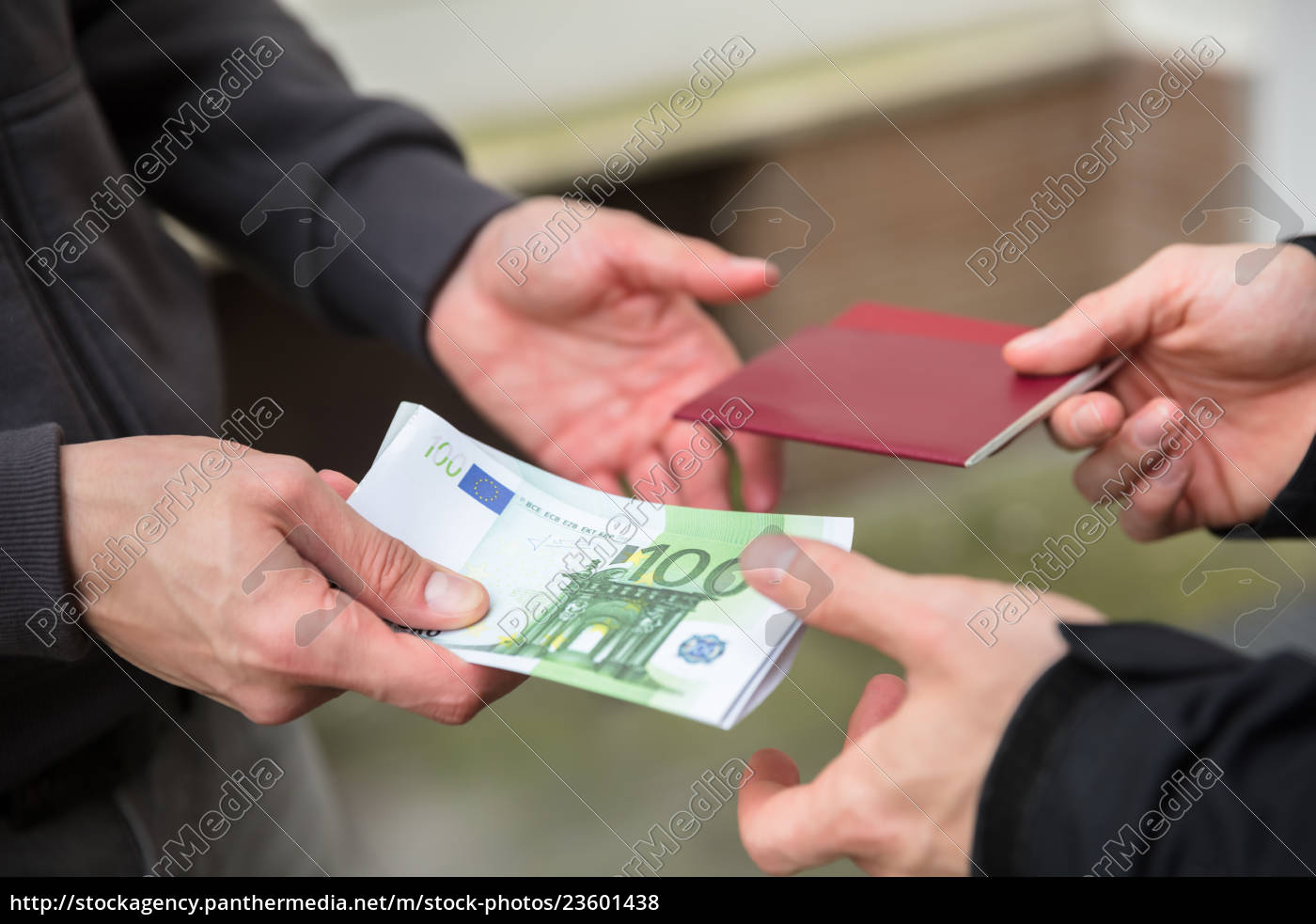 human, hand, buying, illegal, foreign, passport - 23601438