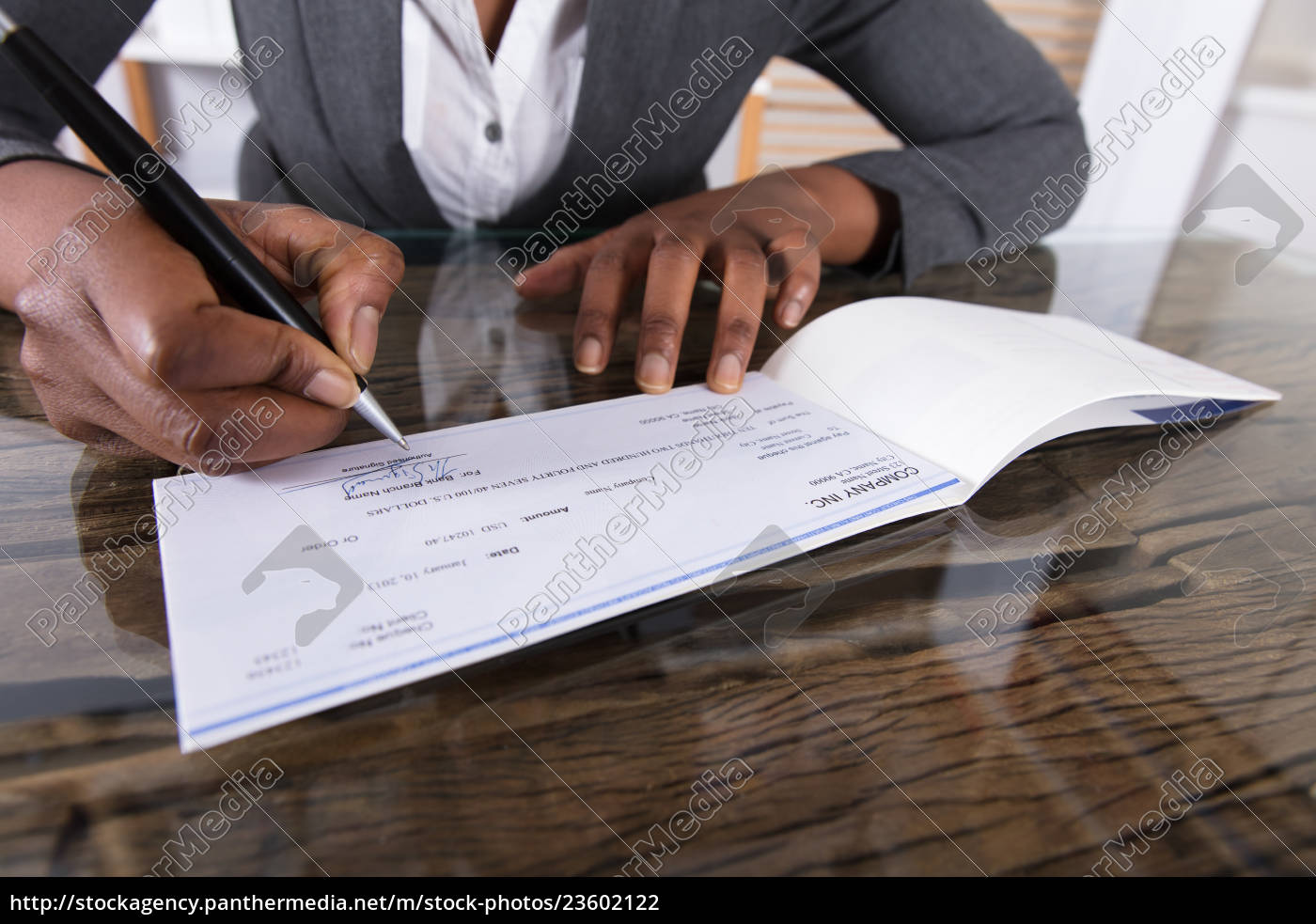 human, hand, signing, cheque - 23602122