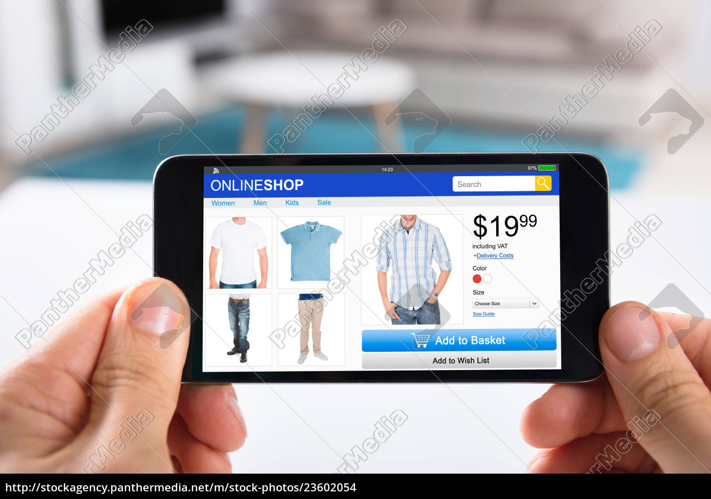 person, shopping, online, on, smartphone - 23602054