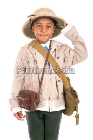 boy, in, safari, clothes - 23603746