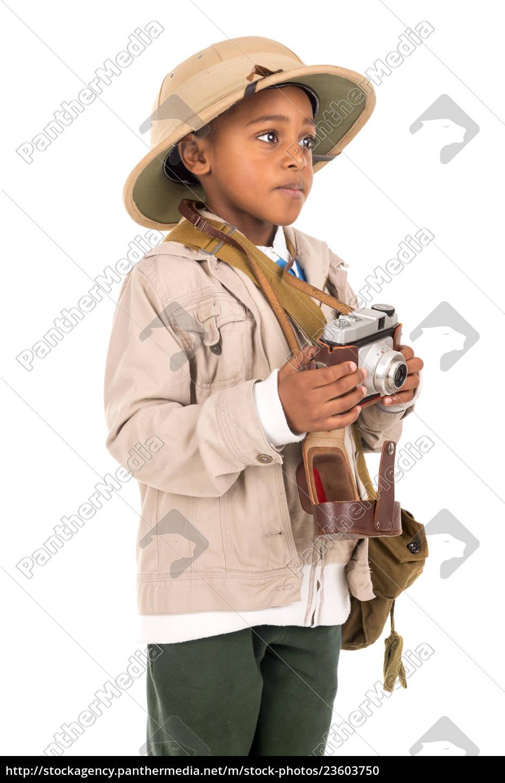 boy, in, safari, clothes - 23603750