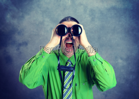 man, in, green, shirt, and, necktie - 23606108