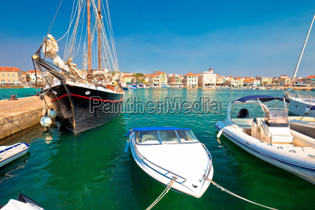 town of vodice waterfront pier view