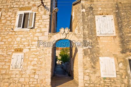 mediterranean village of zlarin stone architecture