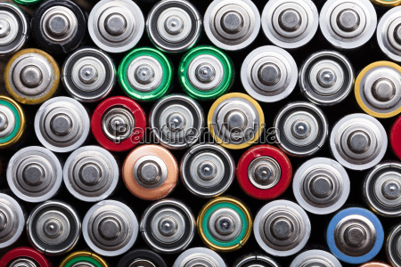 different type of used batteries