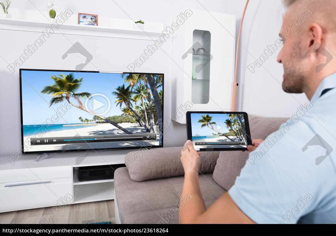 connecting, television, channel, through, wi-fi - 23618264