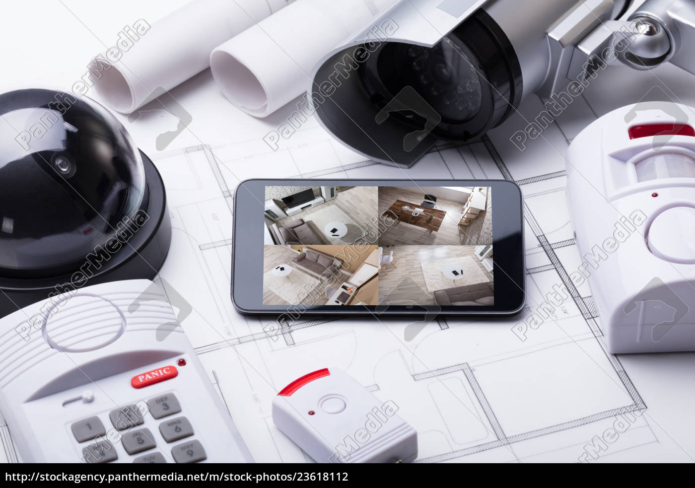smart, home, system, on, mobilephone, with - 23618112