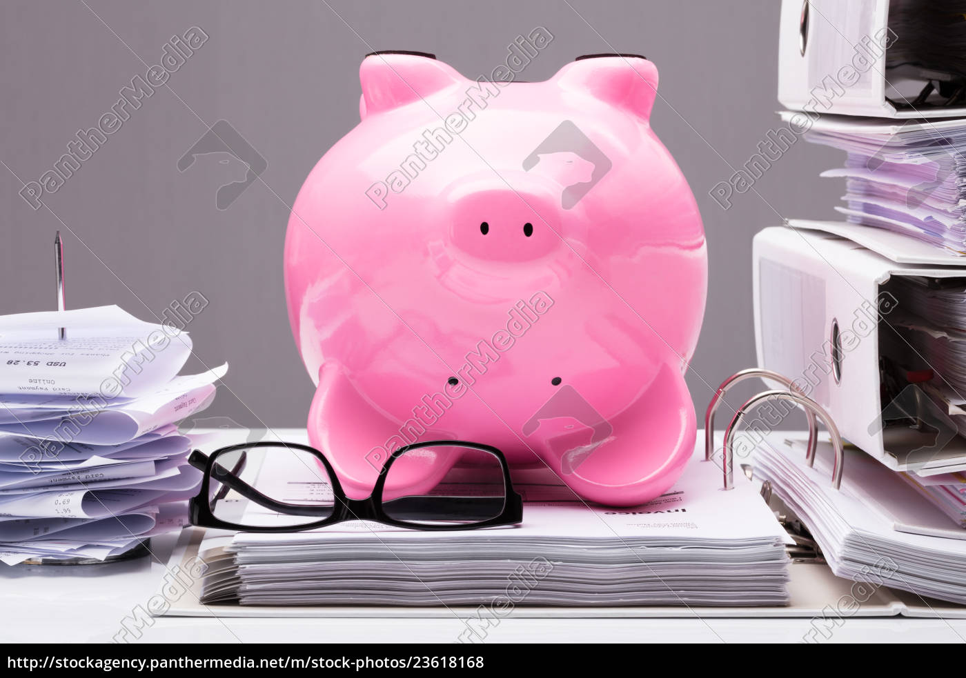 upside, down, pink, piggy, bank, on - 23618168