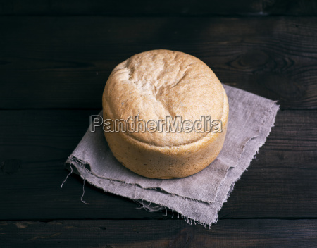 round yeast bread baked from white