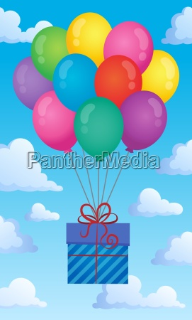 balloons with gift theme image 2