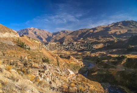view of the deep canyon colca