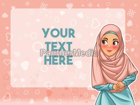 muslim woman wearing hijab veil face
