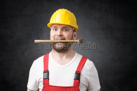 insane construction worker