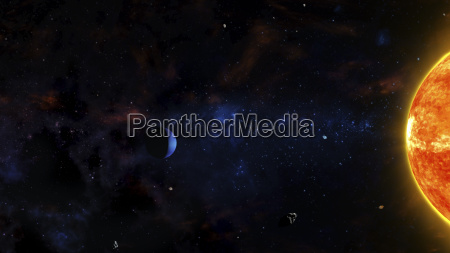 sci fi outer space scene with