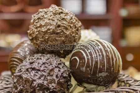 close up chocolate truffle chocolates