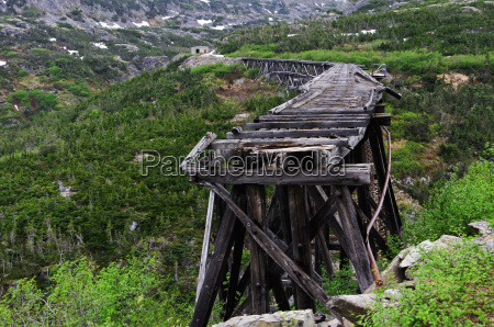 white pass railroad original trestle bridge