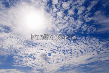 stratocumulus clouds blocking the sun above