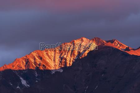 peaks in the brooks range glowing