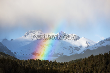rainbows and intermitant showers in alaskas