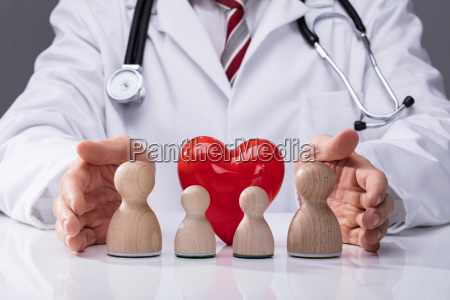 doctor protecting family