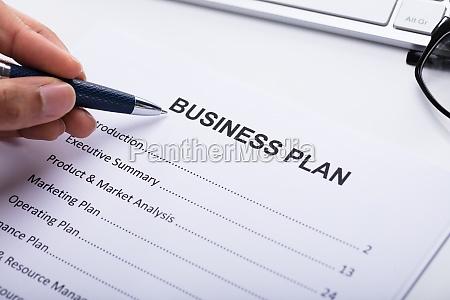 businessperson making business plan