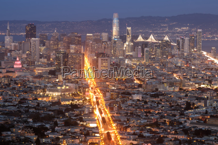 downtown san francisco and market street