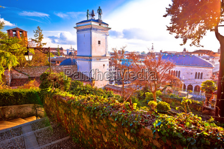 town of udine landmarks view with