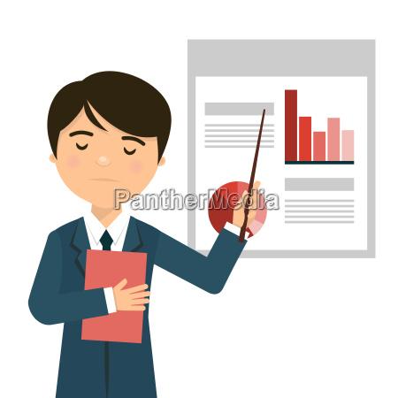 worried businessman in a business presentation