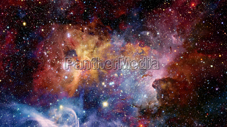 nebula in deep mysterious space elements