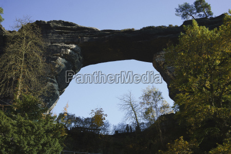 low angle view of natural arch