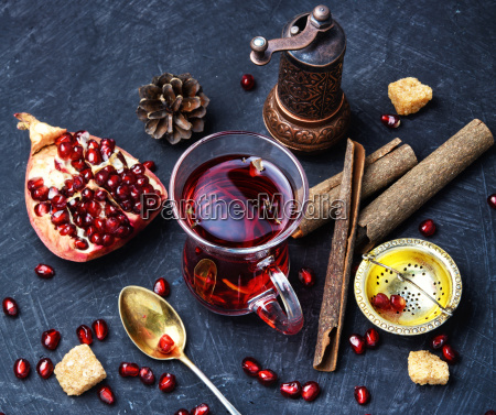cup of pomegranate tea