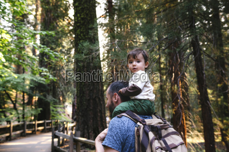 usa california father and baby visiting