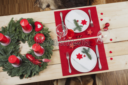 festively decorated table for christmas