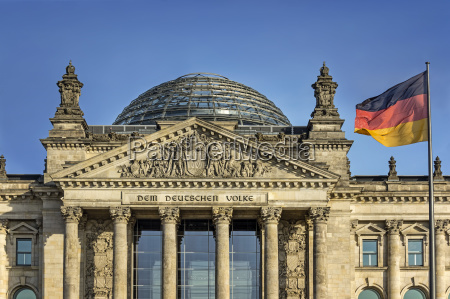 germany berlin reichstag building with german