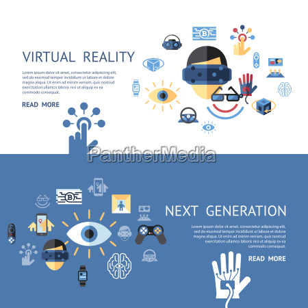 digital vector virtual augmented reality concept