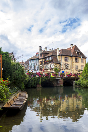 france colmar old town bridge and