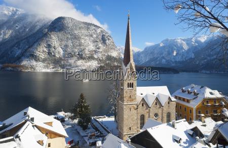 austria upper austria salzkammergut hallstatt lake