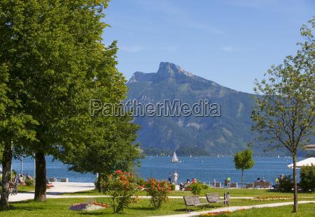 austria upper austria salzkammergut mondsee lakeside