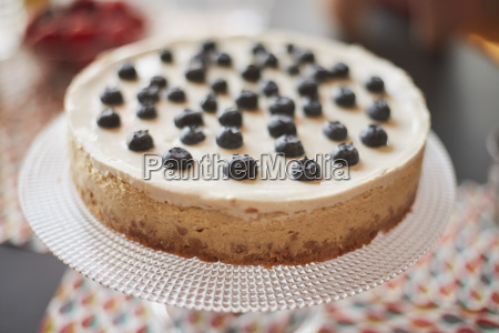 high angle close up of cake