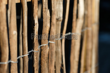 wooden fence with sharpness on the